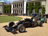 Chis Locke's Lotus 77 on display with other amazing and historic Loti in front of Goodwood House in Chichester, England.